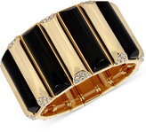 INC International Concepts M. Haskell for INC Gold-Tone Stone and Pavé Rectangle Stretch Bracelet, Only at Macy's