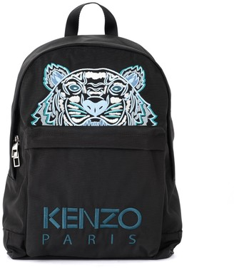 Kenzo Black Backpack With Tiger And Logo