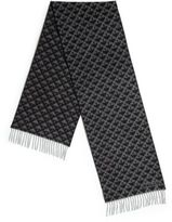 Bally Printed Fringe Trim Scarf