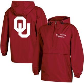 Champion Women's Crimson Oklahoma Sooners Packable Half-Zip Light Rain Jacket