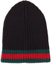 Gucci Black Chunky-knit Wool Beanie