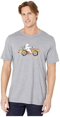 Smartwool Merino Sport 150 Motor Bear Tee (Light Gray Heather) Men's Clothing
