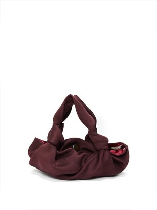 The Row The Ascot Two Satin Clutch - Womens - Burgundy