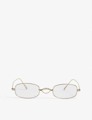 Oliver Peoples Edeson oval-frame glasses