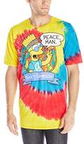 Liquid Blue Men's Simpsons Peace Man T-Shirt