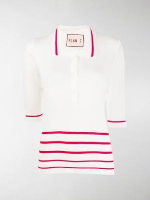 Plan C Striped Polo Shirt