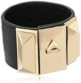 Sam Edelman Wide V Lock Leather Bracelet