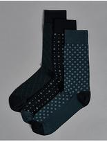 Autograph 3 Pairs of Modal Pima Blend Socks