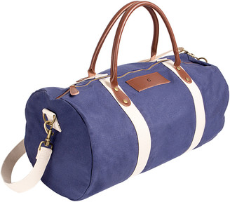 Cathy's Concepts Personalized Canvas & Leather Duffle Bag