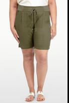 NYDJ &Candice& Linen Blend Shorts (Plus Size)