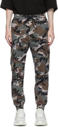 Juun.J Green Camo Cargo Pants