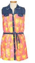 Flowers by Zoe Neon Denim Dress (Big Girls)