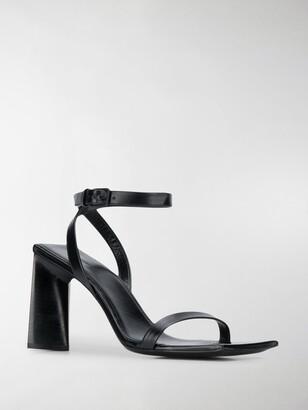 Balenciaga Square Toe High Heel Sandals