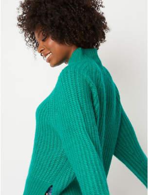 George Emerald Green Chunky Knit Jumper