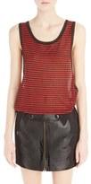 Anthony Vaccarello Women's Stripe Tank