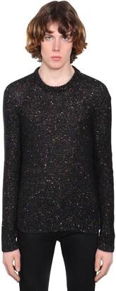 Saint Laurent Embellished Mohair Blend Sweater