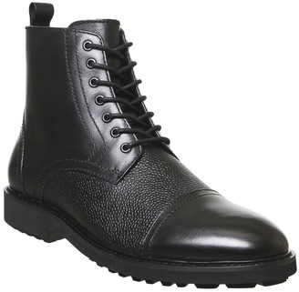 Office Bennett Lace Up Boots Black Leather