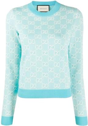 Gucci GG monogram-pattern jumper