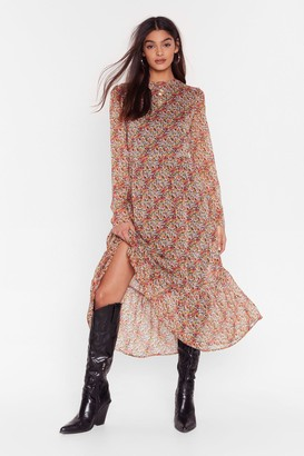 Nasty Gal Womens You Plant Do That Floral Maxi Dress - Brown