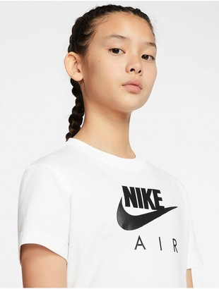 Nike Girls Air Oversized T-Shirt - White