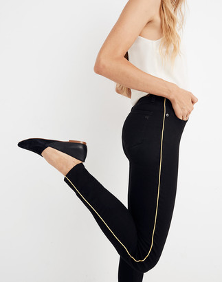 "Madewell Taller 10"" High-Rise Skinny Jeans: Gold Piping Edition"