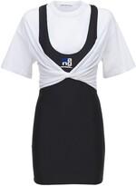 Thumbnail for your product : Alexander Wang T-Shirt Hybrid Mini Dress