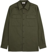 Acne Studios Sontag Army Green Cotton Twill Shirt
