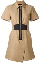 Alexander Wang safari dress - women - Cotton/Polyester - 4