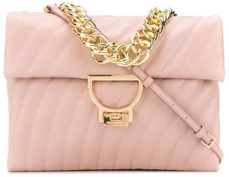 Coccinelle quilted flap tote