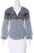 Veronica Beard Printed Silk Blouse