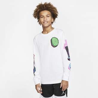 Nike Big Kids' (Boys') Long-Sleeve T-Shirt Air Jordan