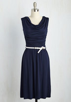 Bayside Vacay Jersey Dress in Navy in M