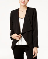 Lily Black Juniors' Open-Front Blazer