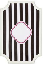Scallop Framed Monogram Pinboard, Black Stripes, Vertical