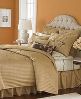 Martha Stewart Bedford Flowers Quilted Coverlet Full /queen Gold - Msrp $385