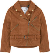 Ikks Imitation suede leather biker jacket