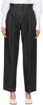 Mame Kurogouchi Black High-Waisted Jeans