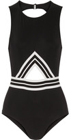 Karla Colletto Parallel Cutout Swimsuit - Black