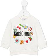 Moschino Kids - Flower Power sweatshirt - kids - Cotton/Spandex/Elastane - 3-6 mth