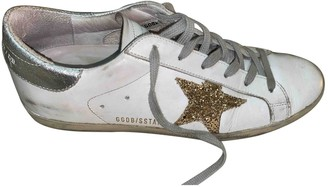 Golden Goose White Leather Trainers