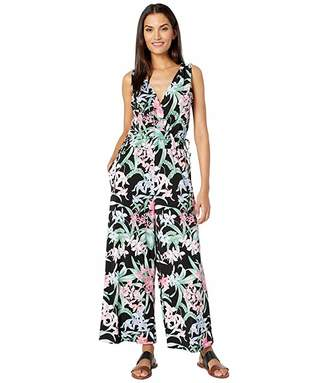 Tommy Bahama Orchid Isle Sleeveless Jumpsuit (Black) Women's Jumpsuit & Rompers One Piece
