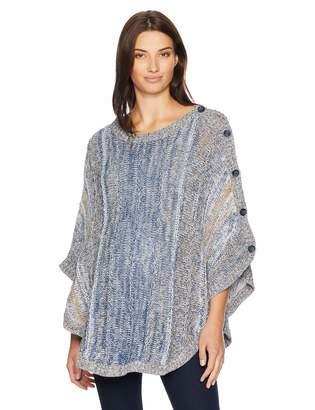 Motherhood Maternity Women's Maternity Space Dye Sweater Poncho