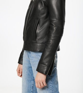 Andrew Marc Rego Leather Racer Jacket