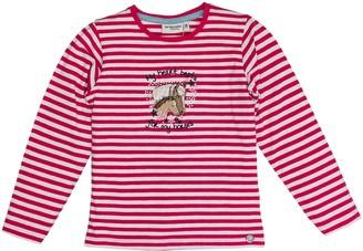 Salt&Pepper Salt and Pepper Girl's Longsleeve Horses Stripes T-Shirt