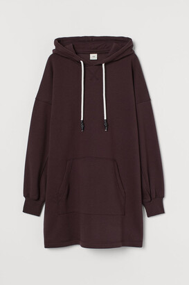 H&M Hooded Sweatshirt Dress - Red