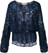 Nicole Miller floral lace blouse - women - Silk/Polyester - L