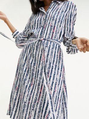 Tommy Hilfiger Viscose Handwriting Shirt Dress