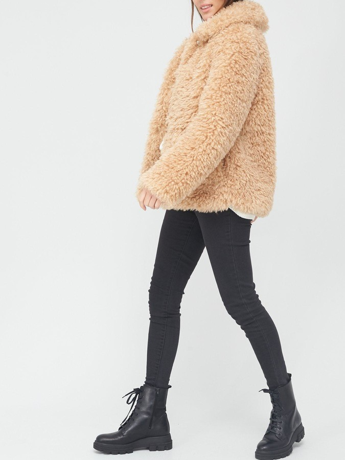 Thumbnail for your product : Very Teddy Faux Fur Coat - Camel