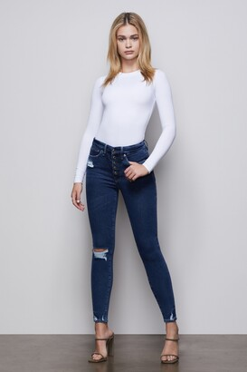 Good American Good Waist Exposed Buttons | Blue393