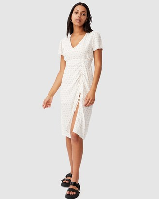 Cotton On Woven Imogen Ruched Midi Dress